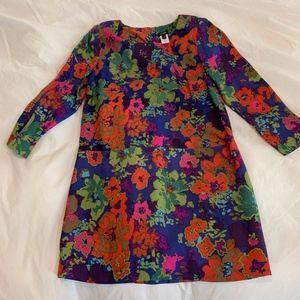 J. Crew Silk Floral Dress